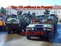Американские военные в Праге 31 03 2015    The US military in Prague 31 ...
