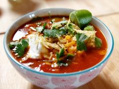 Get Ree Drummond's Slow Cooker Mexican Chicken Soup Recipe from Food Network
