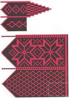 Варежки ....................................... - Всем, кто вяжет, дарю старые идеи для новых работ Crochet Mittens Free Pattern, Knit Mittens, Crochet Chart, Mitten Gloves, Knitting Charts, Knitting Stitches, Hand Knitting, Knitting Patterns, Fair Isle Knitting