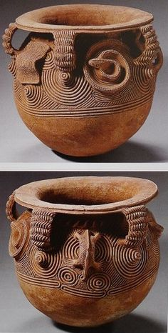 Africa | Global vessel with everted rim from the Igbo people of Nigeria | 10th century | Fired clay