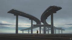 Roads, Yuri Shwedoff on ArtStation at https://www.artstation.com/artwork/roads