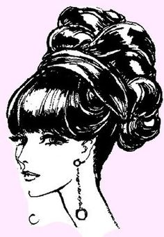 This looks exactly like Megan's Hair in Mad Men ~ retro 1967