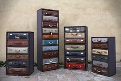 recycle-old-suitcases as tallboys