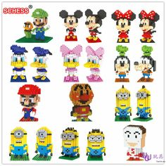 SC: Mike Goofy  1002-13  Diamond Micro Nano Building Blocks Action Figure boy & girl gifts #Affiliate