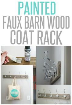 Faux Barn Wood Coat Rack