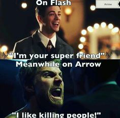 It's cool. Or cruel...  Flash or Arrow? Arrow.