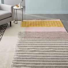Reversible and easy-to-care for, our handwoven Ikat Mix Indoor/Outdoor Rug offers durability with a softer-than-wool feel. It adds vibrant color and pattern anywhere from playroom to entry to patio. Indoor Outdoor Rugs, Outdoor Rooms, Outdoor Carpet, Outdoor Patios, Outdoor Living, Room Rugs, Rugs In Living Room, Balkon Design, My Pool