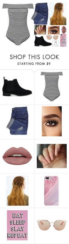 """""""Hollywood here I come! 🌌⛰🏙"""" by kamileigh2006 ❤ liked on Polyvore featuring TOMS, Miss Selfridge, WithChic, Recover, Missguided, Christian Dior and Happy Plugs"""