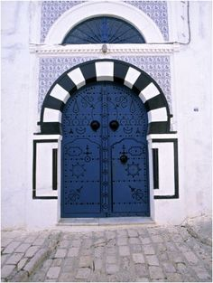 Blue Door, Sidi Bou Said, Tunisia Jon Arnold ~ Photographer.