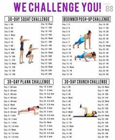 30 Day Squat, Push-Up, Plank, & Crunch Challenge http://AFitBeachBody.com