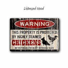 Afficher cette petite beauté pour donner l'avertissement à tous ceux qui peuvent abuser tandis que vos poules sont sur devoir de garde.  Un signe de couleur parfaitement polyvalent qui est garanti pour faire un cadeau parfait ou un accessoire pour n'importe quel garage, homme des cavernes, mur Accent, la chambre d'enfant et tout ce que vous pouvez penser. Conditionnements *** Fabriqué à partir d'aluminium de haute qualité, ces signes de couleur sont conçus et thermiquement imprimé avec des…