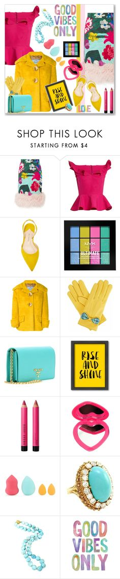 """Good Vibes Only"" by kimzarad1 ❤ liked on Polyvore featuring Prada, Emilio De La Morena, Paul Andrew, NYX, Gizelle Renee, Americanflat, John Lewis, Saks Fifth Avenue, Decadent Jewels and Native State"