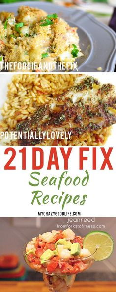 Seafood is easy to prepare and nutritious! Its the perfect food for when youre watching your weight. Here are my favorite 21 Day Fix seafood recipes!