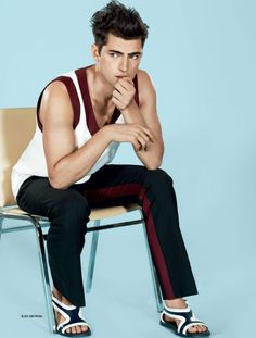 Sean O'Pry shot by David Roemer and outfitted by Benjamin Sturgill with pieces from Jil Sander, Dries Van Noten, Prada and more, for the Spring/Summer 2013 coverstory of GQ Style Korea.