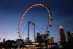 Singapore Flyer, the world's largest giant observation wheel, gives a 360 panoramic view of Singapore, from the fast-changing Marina Bay that is transforming by the minute, to the islands of Malaysia and Indonesia.