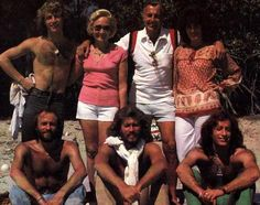 Andy Gibb and his family