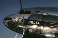 Delta DC-3 Delta Plane, Douglas Dc3, Image Avion, Aircraft Propeller, Douglas Aircraft, National Airlines, Passenger Aircraft, Engin, Commercial Aircraft