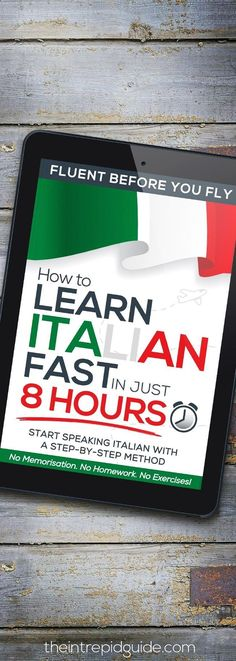 How to Learn Italian FAST in Just 8 Hours! Sound like a gimmick? I assure you, it's not. I wrote this book with both the lost, but motivated learners in mind; as well as myself when I first started learning Italian all those years ago. I knew nothing about grammar. Not in English and certainly not in another language. Suddenly having to learn a plethora of new terms and words was a very daunting task. This paint by numbers system simplifies everything. #howtolearnitalian
