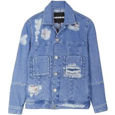 House Of Holland Multi Tartan Patched Denim Jacket (€155) ❤ liked on Polyvore featuring outerwear, jackets, denim jackets, tops, blue, cotton utility jacket, patch pocket jacket, plaid jacket, blue plaid jacket and pocket jacket