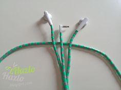 Como decorar cables con hama beads.
