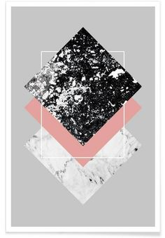 Geometric Textures 1 as Premium Poster by Mareike Böhmer | JUNIQE …