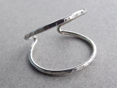 Double Knuckle Ring Knuckle Rings Open Mid by FULLMOONJEWELLERY