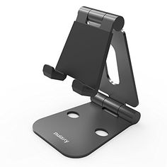 Anker Multi-Angle Portable Stand for Tablets 7-10 inch, E-readers and Smartphones, 0.4lb Lightweight Durable Aluminum Body, Compatible for iPad Air, Mini, iPhone 6 5S 5 4S, Samsung Galaxy S5 S4 S3, Google Nexus 5 6 7 9 Phones, Tablets and more (Black)