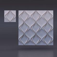 "500*500 Mold for 3D panels ""Soft rhombus"""
