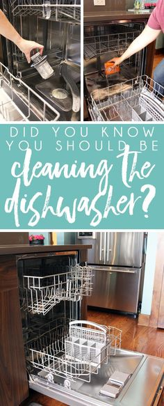 How to clean a dishwasher using vinegar and baking soda, plus four other quick steps to keep your dishwasher filter, drain, seal, and spray arms clean for the most sanitary dishes.