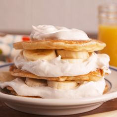 Your excuse to eat banana pudding for breakfast. #food #easyrecipe #pancakes #brunch #breakfast