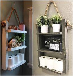 10 piccoli progetti fai da te, per rendere il vostro bagno più confortevole.