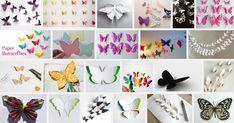 Papieren vlinder maken