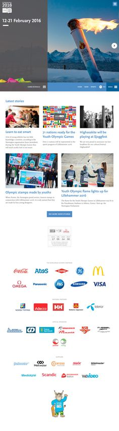 Lillehammer 2016 Winter Youth Olympic Games (More web design inspiration at topdesigninspiration.com) #design #web #webdesign #inspiration #sitedesign #responsive