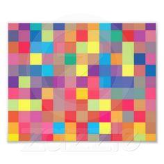 Pixel Rainbow Square