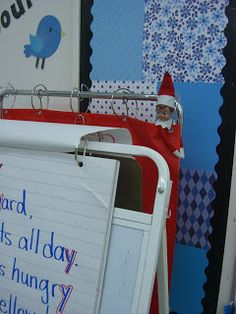 Some cute Elf on the Shelf ideas for the classroom