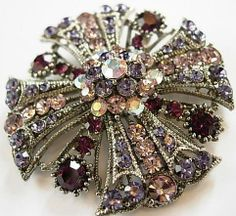 6ce28e1a6c3 Vintage Style Large Crystal Pin Brooch Broaches Lavender by Feeling  Pampered