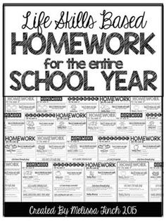 HOMEWORK CAN BE SO MUCH MORE THAN A WORKSHEET! Do you struggle with homework that is developmentally appropriate for your students? Use this no-prep easy to manage homework packet to organize your homework for the entire year. Life Skills Lessons, Life Skills Activities, Life Skills Classroom, Teaching Life Skills, Autism Classroom, Special Education Classroom, Kindergarten Classroom, Classroom Ideas, Future Classroom