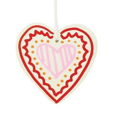 5 x Ceramic Hanging Hearts - PERFECT TO ADD THIS MOTHER'S DAY ... INDIVIDUALITY