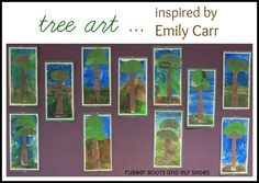 rubberboots and elf shoes: trees like Emily Carr