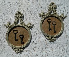 Vintage Wall Art with Antique Keys  Free by PantoisPapillon, $50.00