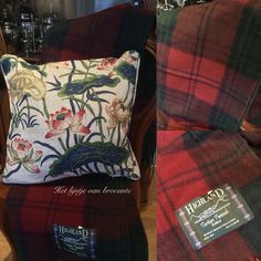Wonderful English tartan throws and pillows available in my shop.....by Silvia Hokke
