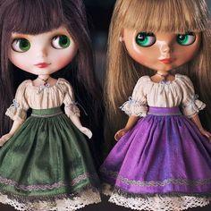 Matching sets #blythe #blythecon #blytheconchicago #sewing #handmade #dollstagram #toystagram #doll #blythedoll