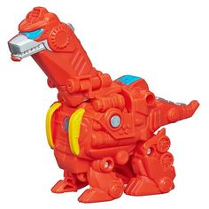 Playskool Transformers Rescue Bots Heatwave the Rescue Dinobot Figure. In Dino mode measures 4-in long and 3-in tall.