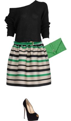 """green"" by brandyayers on Polyvore"