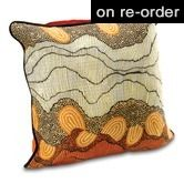 Cushion Covers   Recycled Gifts   Fair Trade Homewares Design by Damien and Yilpi Marks $34.95 To place an order for thiis beautiful cushion cover, click on the link below http://www.oxfamshop.org.au/homedecor/cushion-covers #oxfamshop #fairtrade #shopping #homedecor #cushioncovers