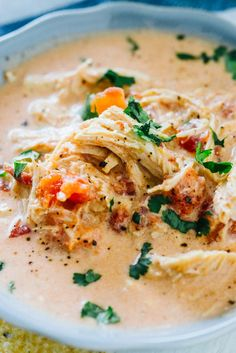 Low Carb Meals Whether you eat keto or not, this zesty queso keto chicken soup is my new favorite for chilly nights. You can make it in the slow cooker or instant pot and it's creamy, slightly spicy and full of flavor. Ketogenic Recipes, Low Carb Recipes, Diet Recipes, Cooking Recipes, Ketogenic Diet, Salmon Recipes, Recipies, Low Carb Soups, Cooking Tips