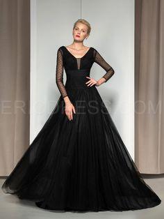 ericdress.com offers high quality  Ericdress V-Neck Long Sleeve Sequins Evening Dress  Elegant Evening Dresses unit price of $ 109.47.