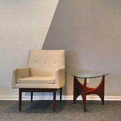 Joint Effort Studio: Jens Risom White & Walnut Chair