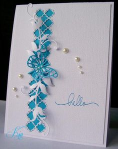 Butterly Hello by kiagc - Cards and Paper Crafts at Splitcoaststampers