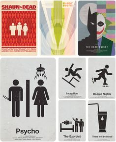 I can't find the original source of these, but I want to buy the Shaun of the Dead one for Scott. So cool.